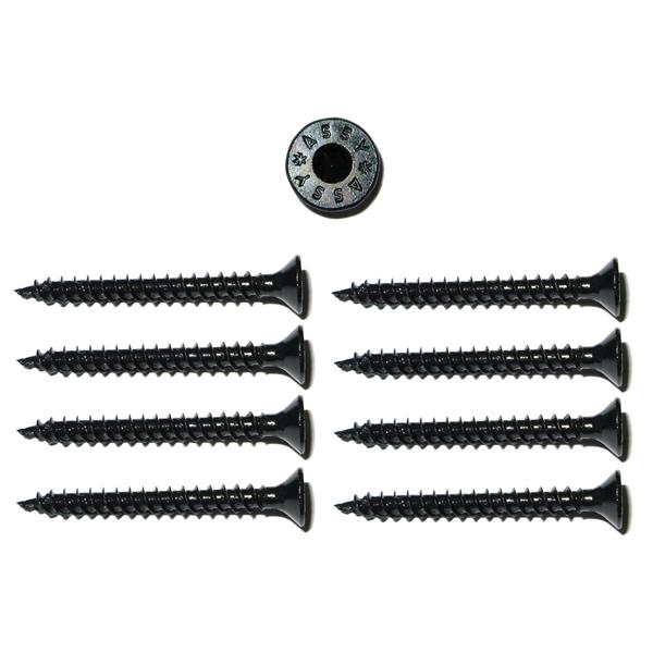 8 torx senkkopf spezial holzschrauben 4x40mm schwarz gewinde asymmetrisch ebay. Black Bedroom Furniture Sets. Home Design Ideas