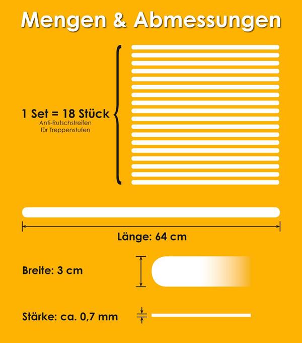 anti rutsch streifen f r treppen transparent selbstklebend sicherheit ebay. Black Bedroom Furniture Sets. Home Design Ideas